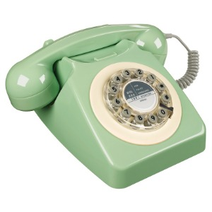 Retro Telefon - Swedish Green